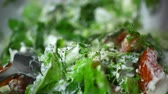 capers : Spicy vegetable salad ready. Stock Footage