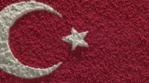 cartography : Turkey, map and flag, zoom out Stock Footage