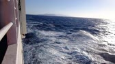 Киклады : Strong wind from the ferryboat between cyclades greek islands Стоковые видеозаписи