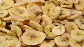 tropikal meyve : Dried organic banana slices
