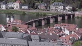 Heidelberg, karl-theodor bridge, aerial view