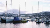 jachting : Harbor of Volda, Norway in winter Dostupné videozáznamy