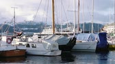 urbane : Harbor of Volda, Norway in winter Stock Footage