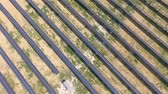 los : Aerial shot of solar panels - solar power plant.