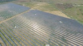 energia solare : Aerial shot of solar panels - solar power plant.