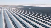 облачность : Aerial view large industrial Solar Energy Farm.