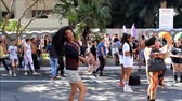 oryantasyon : Sao Paulo, Brazil - June 18, 2018: Undefined person dancing during the S?o Paulo Pride Parade.