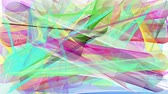 desenhado : Abstract video background with animated colorful shapes Stock Footage