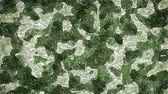 papier : Moving khaki camouflage background Stock Footage