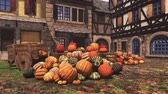 販売の : Thanksgiving autumn pumpkins at country market in small medieval village