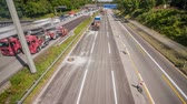 encerramento : Roadwork on a highway time lapse 4k Vídeos