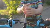 zoon : little boy repair his bicycle