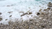 海 : Waves at stony pebble beach