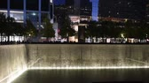 сентябрь : NEW YORK, USA - OCTOBER 20, 2018: Reflecting Pool at New Yorks 911 Memorial at Ground Zero