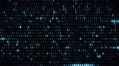 Fast moving numbers in the Internet matrix blue color a HD 1920x1080 Stock Footage