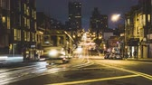 SAN FRANCISCO, USA - September 2018: 4K Timelapse movie video film of Night Street scene in the downtown of San Francisco, California, USA. San Francisco is one of the top tourist destinations in the world. Vídeos
