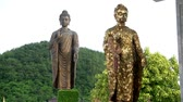 enlightenment : The Buddha statue Stock Footage
