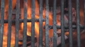 grade : Close up of grill on fire pit.