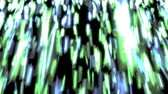 motion blur : Animated densely falling cold color stars, strikes with motion blur and in slow motion against black background.