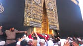 makkah : MECCA, SAUDI ARABIA-CIRCA MARCH 2015: Muslims are doing tawaf around the Kaaba in Masjidil Haram in Makkah, Saudi Arabia. The mosque is under construction to expand the space for hajj
