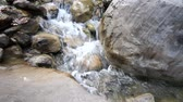 hydrology : stream in  mountains during low water periods