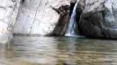 hydrology : mountain river flowing waterfall Stock Footage