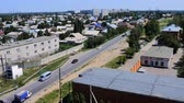 borough : Kazakhstan, Pavlodar - July 24, 2016: City Pavlodar in Northern Kazakhstan 2016. Sector of private houses and apartment buildings quarter. Main area of development  of virgin lands (steppe) in USSR in mid 20th century