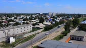 local : Kazakhstan, Pavlodar - July 24, 2016: Cities Of Kazakhstan. Single-storey suburb of city of Pavlodar. Top view, road