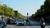 sugárút : Paris, France - 24.09.2017: Champs Elysees is the main street of Paris, paved road and road transport