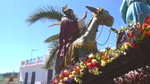 Spanish holy week processions, Easter Week Semana Santa Stock Footage
