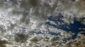 4K shooting of looped clouds movements along the electric blue sky
