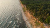 litwa : Aerial view of the Dutchmans Cap, the highest scarp in the whole Lithuanian seaside Wideo