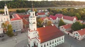 litwa : Aerial view of Kaunas Town Hall Square