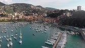 沿岸の : Aerial view of town of Lerici, part of the Italian Rivera