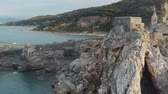 Aerial view of the famouse Church of Saint Peter in Porto Venere