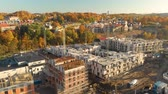 litwa : Aerial view of construction site in the city of Vilnius, Lithuania