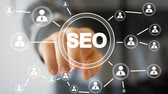 digital : Business button web SEO communication icon Stock Footage