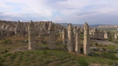 anatolia : 4K footage. Wide panorama love valley. Handheld camera