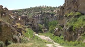 anatolia : HD footage. Panorama of the city in the rocks. Handheld camera
