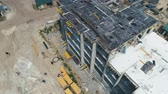 кран : Aerial Shot of the Building in the Process of Construction.