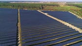 solarstrom : Aerial drone footage. Flight over solar panel farm. Renewable green alternative energy Videos