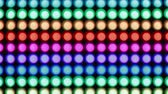 piscar : Horizontal rainbow bokeh lights effect background for party