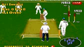 batedor : URYUPINSK. RUSSIA - APRIL 7, 2016: Gameplay game console Sega Genesis Brian Lara Cricket - sport cricket match retro console games on April 7 2016 in Urupinsk, Russia