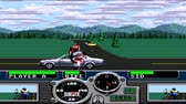gp : URYUPINSK. RUSSIA - FEBRUARY 06, 2017: Gameplay game console Sega Genesis Road Rash - street racing motorcycles on February 06 2017 in Urupinsk, Russia
