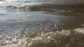 pěna : strong waves ocean sea water nature slow motion video. beautiful sea the landscape