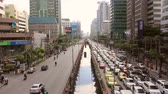 asphalt : BANGKOK - October 10,2014: congestion on the road on rush hour time in Thailand