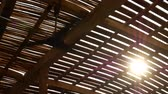 ventilátor : Ceiling fan in a wooden bungalow in the tropics with sun at day