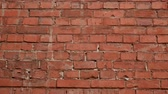 solide : Old surface of red brick wall as texture or background