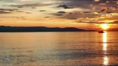 no people : Sunset over adriatic sea with clouds timelapse