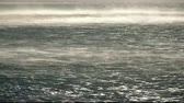 winter : Strong wind on the sea time lapse